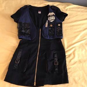 Sexy cop costume mini dress size M